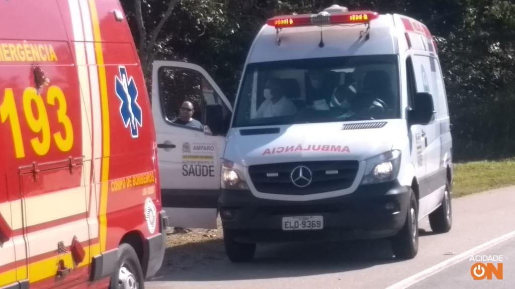 Acidente na Rodovia Benevenuto Moretto em Amparo (Foto: Divulgação)
