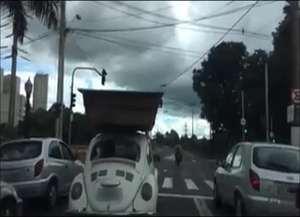 Apesar de curiosa, situação registrada em Ribeirão Preto não pode ser considerada uma infração de trânsito