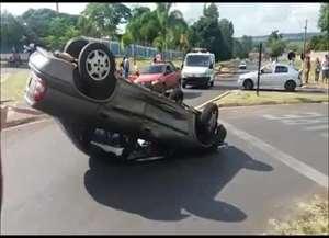 Colisão foi na entrada de Boa Esperança do Sul; motorista ficou ferida