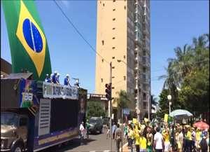 Ato organizado pelo Movimento Brasil Limpo, que apoia a Operação Lava Jato, ocorreu neste domingo (26 de março)