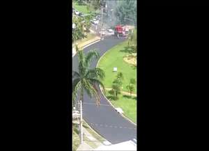 Incêndio aconteceu na tarde desta quinta-feira (13); Corpo de Bombeiros foi encaminhado ao local para combater chamas