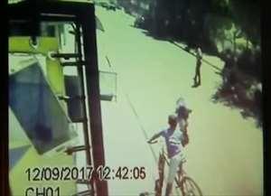 Imagens de câmera de segurança obtidas com exclusividade pelo grupo EPTV mostram o momento da lesão corporal e vandalismo