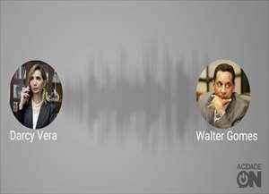 Ex-prefeita Dárcy Vera conversa com Walter Gomes, ex-presidente da Câmara de Ribeirão Preto