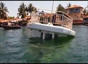 Dono do barco ainda não sabe o que teria causado o problema no barco; não havia ninguém na embarcação