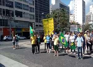 Protesto começou às 15h no Largo do Rosário, no Centro