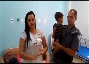 Cabo encontrou menino de 1 ano e 9 meses já inconsciente; policial fez respiração boca a boca e massagem cardíaca no menino