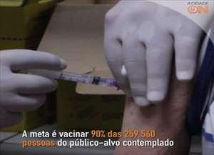 A campanha começou em 23 de abril e continua até 1º de junho. A meta é vacinar 90% das 259.560 pessoas consideradas público-alvo