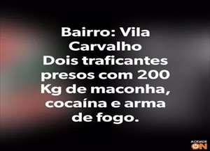 Casal foi preso por tráfico de drogas na Vila Carvalho, zona Norte de Ribeirão Preto