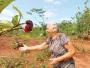 Aos 72 anos, a aposentada Odete Falvo da Silva cuida todos os dias do jardim. - Foto: F.L.Piton / A Cidade