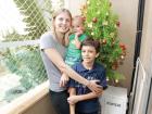 Marilda Bastos com os filhos Emmanuel, 8 anos, e Arthur, de um ano de idade. - Foto: F.L.Piton / A Cidade