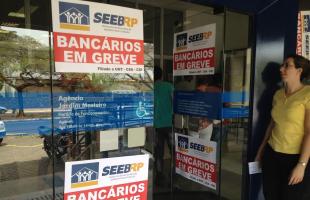 Rodrigo Prioli/ CBN Ribeirão - Bancários da agência do Jardim Mosteiro também aderiram a paralisação