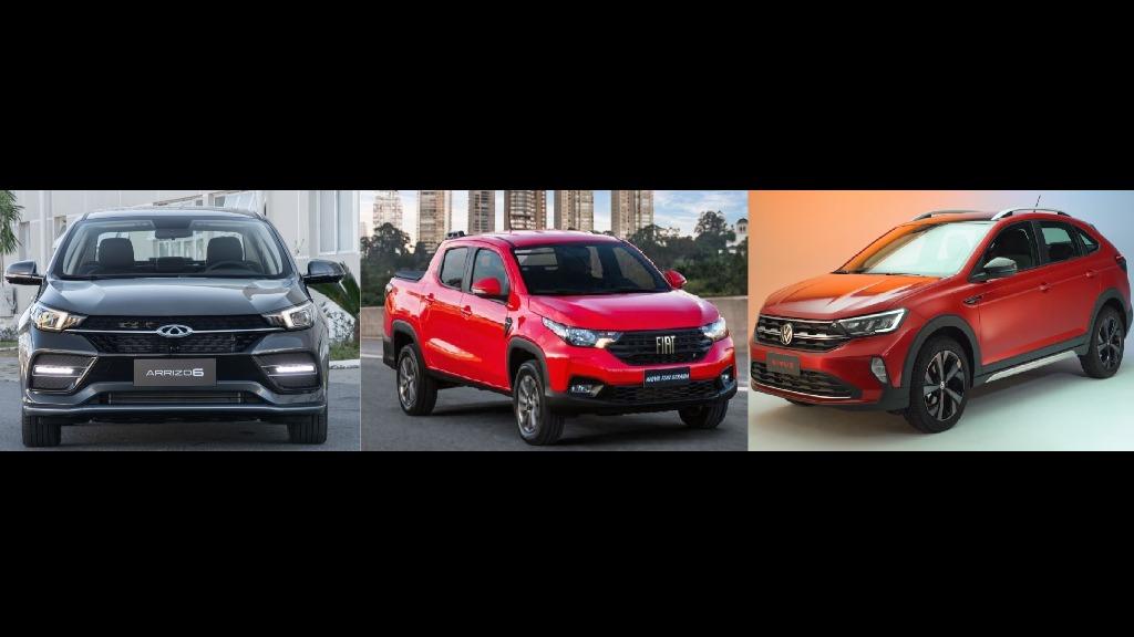 A semana foi marcada por três grandes lançamentos: Fiat Strada, Volkswagen Nivus e Caoa Chery Arrizo 6 (Foto: Divulgação) - Foto: Divulgação
