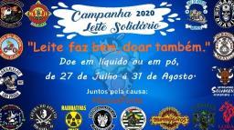Moto clubes de unem para arrecadar leite para orfanatos