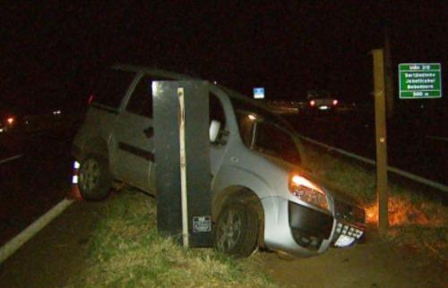 Reprodução EPTV - Ninguém ficou ferido em acidente no Anel Viário Sul