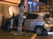 Quatro pessoas da mesma família ficam feridas em acidente na avenida Brasil