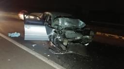 Mulher morre após colisão traseira no Anel Viário Norte