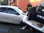 Três mulheres ficam feridas em acidente no Centro de Ribeirão
