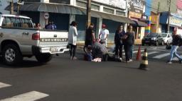 Jovem fica ferida em acidente de trânsito na Rua São Bento