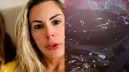Joana Prado, a Feiticeira, se envolve em grave acidente de carro