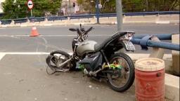 Após cair do Viaduto Cury, passageiro da moto segue na UTI