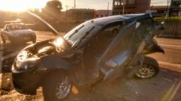 Colisão entre carros deixa uma vítima grave em Hortolândia