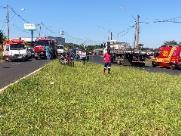 Três pessoas ficam feridas em acidente na Manoel de Abreu