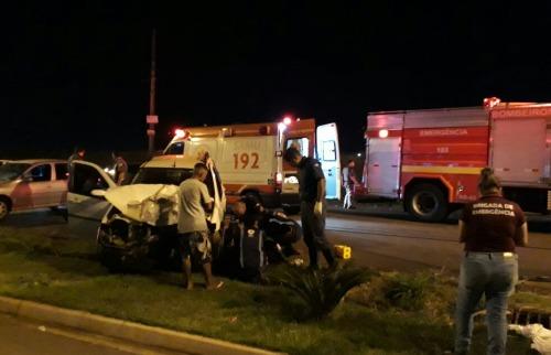 (Foto: Cleudo Jorge de Souza Pereira) - Acidente ocorreu na noite de sexta-feira. (Foto: Cleudo Jorge de Souza Pereira)