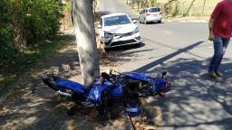 Motociclista fica ferido após acidente em Jaguariúna