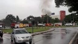 Motorista de caminhão morre após invadir hotel em Campinas