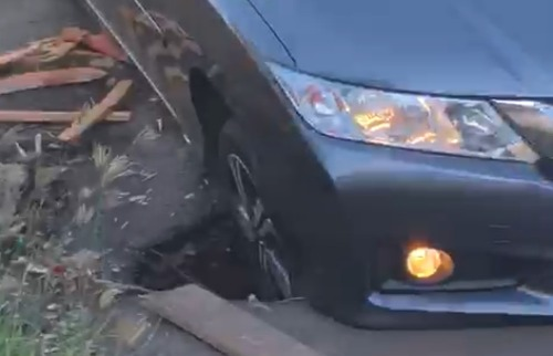 Acidente mais recente na rua Chile aconteceu nesta terça-feira (22) - Foto: Reprodução EPTV