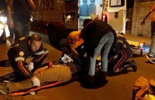 Motociclista sofre fraturas após acidente - Foto: ACidade ON - São Carlos