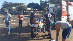Motociclista fica ferida após ser atingida por carro em São Carlos