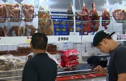 Reprodução EPTV - Começa a faltar carne no Mercado Municipal de Ribeirão Preto (foto: Repropdução / EPTV)