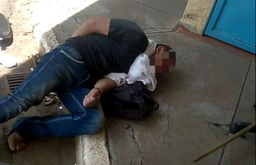 Homem pediu socorro na garagem da Prefeitura de São Carlos. Imagem cedida - Foto: Divulgação