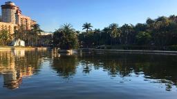 Dia de sol e temperatura em alta no Circuito das Águas