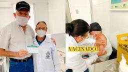 Prefeito Airton Garcia (PSL) é vacinado contra o coronavírus