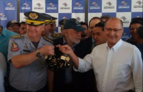 ACidade ON - Araraquara - Alckmin deu a declaração depois da entrega das chaves das viaturas da PM (Luã Viegas)