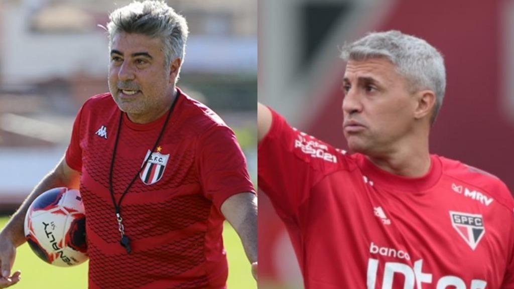 Alexandre Gallo e Hernan Crespo (Foto: Agência Botafogo e SPFC) - Foto: reprodução