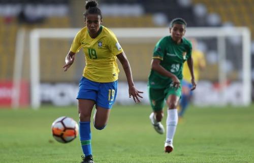 Aline Milene foi convocada para defender a seleção brasileira. (Foto: Lucas Figueiredo/CBF) - Foto: Lucas Figueiredo/CBF