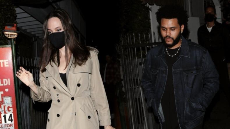 Angelina Jolie e The Weeknd são flagrados juntos em jantar em Los Angeles - ACidadeON