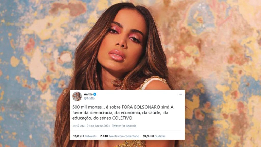 Anitta se posicionou (Foto: Instagram/Reprodução e Twitter/Reprodução) - Foto: Instagram/Reprodução e Twitter/Reprodução