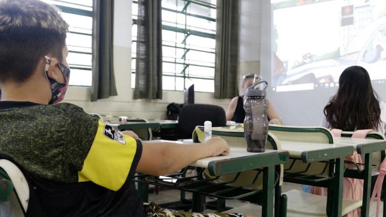 Anúncio de volta às aulas presenciais foi dado dia 9 de abril (Foto: Denny Cesare/Código19/Arquivo)