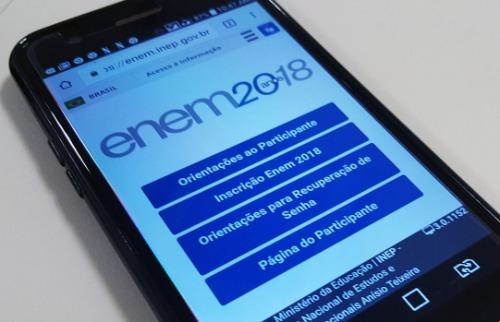 Os resultados do Enem 2018 podem ser acessados pelo aplicativo - Foto: Agência Brasil