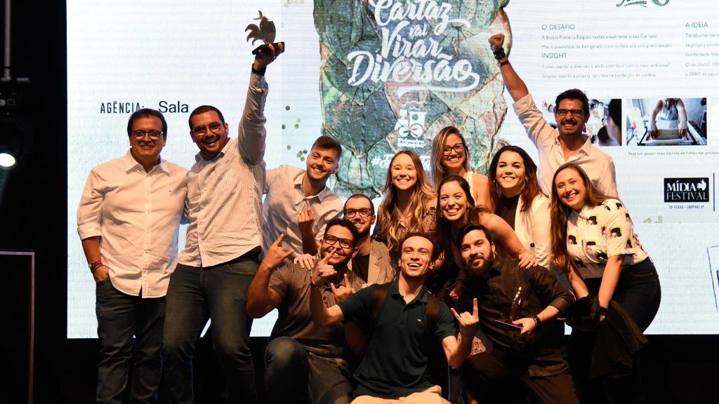 Agência Sala eleita a Agência do Ano no Prêmio Mídia Festival 2019, da APP Campinas - Foto: Guilherme Gongra