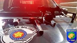 Baep prende dupla com armamento restrito em Ribeirão Preto