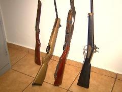 Armas de fogo foram apreendidas em operação - Foto: Reprodução EPTV