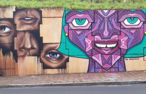 ACidade ON - Araraquara - Artistas se revezam para dar colorido na Via Expressa