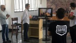 Staff da Ponte faz treinamento sobre os protocolos de segurança