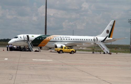 Avião presidencial já estava em Viracopos para retorno do presidente a Brasília (Foto: Denny Cesare/Código 19) - Foto: ACidade ON - Campinas