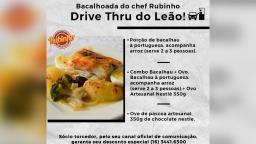 Comercial promove bacalhoada drive-thru para a Páscoa
